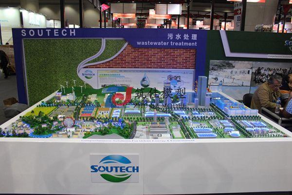 北京筑佳展览展示有限公司-天津中投污水综合处理规划沙盘